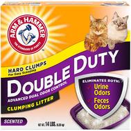Комкующийся наполнитель для котов двойная нагрузка ARM & HAMMER™ Double Duty Clumping Cat Litter