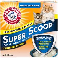 Комкующийся наполнитель для котов и кошек без аромата Arm & Hammer Super Scoop Clumping Litter, Fragrance Free