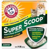Комкующийся наполнитель для котов и кошек с ароматом свежести  ARM & HAMMER™ Super Scoop™ Clumping Litter, Fresh Scent