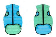 Lumi Курточка двухсторонняя, салатово-голубая светится в темноте