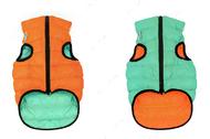 Lumi Курточка двухсторонняя, оранжево-салатовая (светится в темноте)