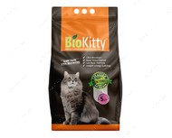 Комкующийся наполнитель туалетов для кошек Super Premium White Baby Powder BioKitty