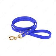 Поводок для собак кожаный фиолетовый PREMIUM BRONZEDOG