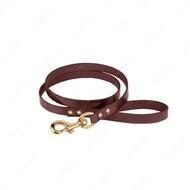 Поводок для собак кожаный коричневый PREMIUM BRONZEDOG