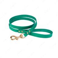 Поводок для собак кожаный бирюзовый PREMIUM BRONZEDOG