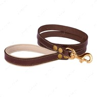 Поводок для собак кожаный коричнево-бежевый PREMIUM BRONZEDOG
