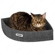 Лежанка угловая для кошек и собак серая BRONZEDOG