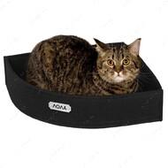Лежанка угловая для кошек и собак черная BRONZEDOG