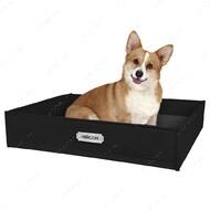 Лежанка прямоугольная для кошек и собак черная BRONZEDOG