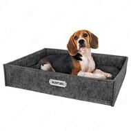 Лежанка прямоугольная для кошек и собак серая BRONZEDOG