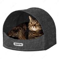 Домик для кошек и собак серый BRONZEDOG