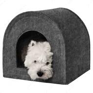 Домик для кошек и собак хатка серый BRONZEDOG