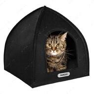 Домик для кошек и собак палатка черный BRONZEDOG