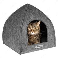 Домик для кошек и собак палатка серый BRONZEDOG