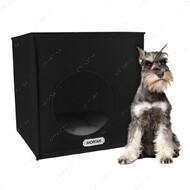 Домик для кошек и собак кубик черный BRONZEDOG