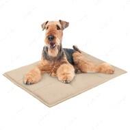 Подстилка для кошек и собак прямоугольная бежевая BRONZEDOG