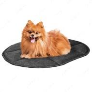 Подстилка для кошек и собак овальная серая BRONZEDOG