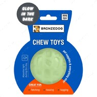 Игрушка для собак мяч светоотражающий GLOW BRONZEDOG