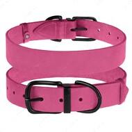 Ошейник для собак кожаный розовый BRONZEDOG CLASSIC