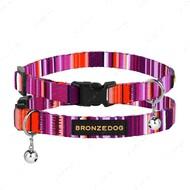 Ошейник для кошек с колокольчиком фиолетовый BRONZEDOG URBAN WEST