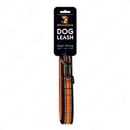 Поводок для собак оранжевый BRONZEDOG MESH 2 В 1