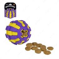 Игрушка для собак двухслойный мяч фиолетово-желтый BRONZEDOG JUMBLE
