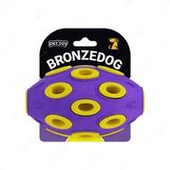 Игрушка для собак мяч фиолетово-желтый BRONZEDOG JUMBLE AIRBALL