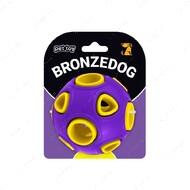 Игрушка для собак мяч фиолетово-желтый BRONZEDOG JUMBLE