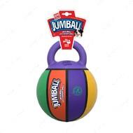 Игрушка для собак баскетбольный мяч с ручкой разноцветный BRONZEDOG GIGWI JUMBALL