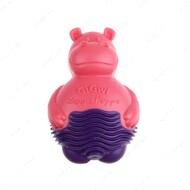 Игрушка для маленьких собак и котов гиппопотам с пищалкой розовый BRONZEDOG GIGWI SUPPA PUPPA