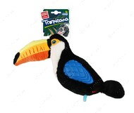 Игрушка для собак плюшевый тукан с резиновыми крыльями BRONZEDOG GIGWI TROPICANA