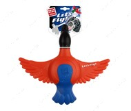 Игрушка для собак резиновая утка с пищалкой BRONZEDOG GIGWI LETS FLY