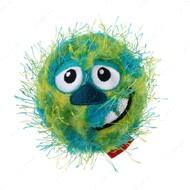 Игрушка для собак мяч с ворсистым покрытием и пищалкой зеленый BRONZEDOG GIGWI CRAZY BALL