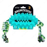 Игрушка для собак спайк с канатом BRONZEDOG PETFUN DENTAL