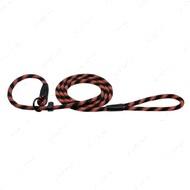 Поводок-удавка для собак светоотражающий черно-оранжевый ACTIVE BRONZEDOG