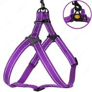 Шлея для собак светоотражающая фиолетовая ACTIVE BRONZEDOG