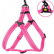 Шлея для собак светоотражающая розовая ACTIVE BRONZEDOG