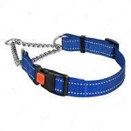 Ошейник-удавка для собак мартингейл светоотражающий синий ACTIVE BRONZEDOG