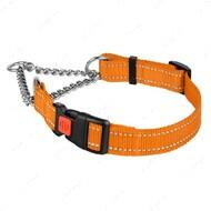 Ошейник-удавка для собак мартингейл светоотражающий оранжевый ACTIVE BRONZEDOG