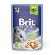 Влажный корм кусочки из филе форели в желе Brit Premium Cat Pouch with Trout Fillets in Jelly for Adult Cats