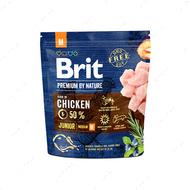 Корм с курицей для щенков и молодых собак средних пород Brit Premium by Nature Junior M