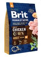 Корм с курицей для собак средних пород Brit Premium by Nature Adult M