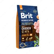Корм с курицей для собак старше 7 лет мелких и средних пород Brit Premium by Nature Senior S+M