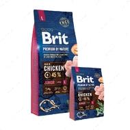 Корм для щенков и молодых собак крупных пород с курицей Brit Premium by Nature Junior L