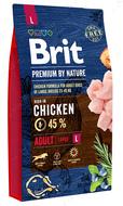 Корм с курицей для собак крупных пород Brit Premium by Nature ADULT L