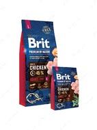 Корм для собак крупных пород с курицей Brit Premium by Nature ADULT L
