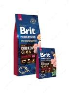 Корм для собак старше 7 лет крупных и гигантских пород с курицей Brit Premium by Nature Senior L+XL