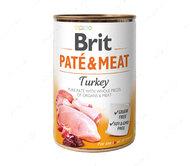 Влажный корм для собак с индейкой Brit Paté & Meat Dog Turkey