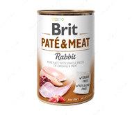 Влажный корм для собак с кроликом Brit Paté & Meat Dog Rabbit