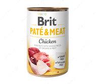 Влажный корм для собак с курицей Brit Paté & Meat Dog Chicken